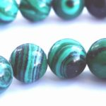 Refreshing Forest-Green 6mm Calsilica Beads