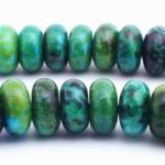 Lustrous Azurite Chrysocolla Rondelle Beads