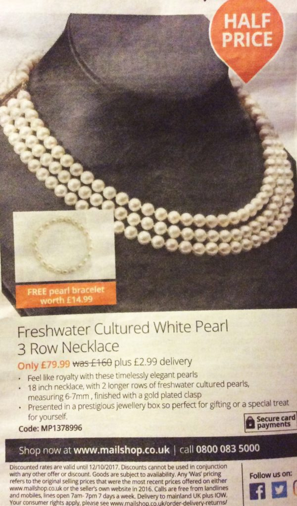 Pearl Necklace Ad
