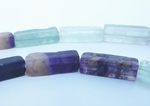 Magical Fluorite Cubed Tube Beads