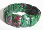 Beautiful Ruby Zoisite Half-Moon Bracelet For Lovers