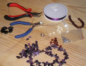 making amethyst necklace